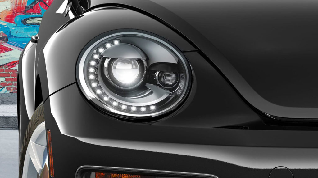 2019 VW Beetle LED daytime running lights and tail lights